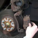Car brakes - removing the pads