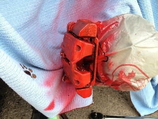 painting brake calipers